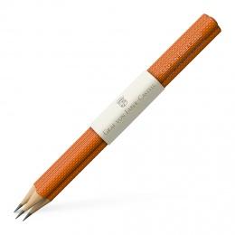 Graf von Faber-Castell Drei banderolierte Bleistifte Guilloche lang Burned Orange