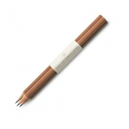 Graf von Faber-Castell Ersatz Holzgefasste Bleistifte mit Tauchkappe Braun
