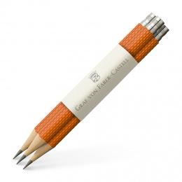 Graf von Faber-Castell Drei Taschenbleistifte Guilloche Burned Orange
