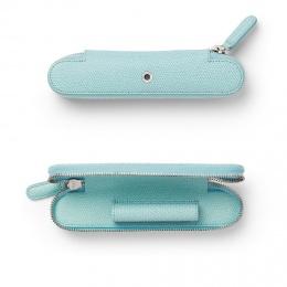 Graf von Faber-Castell Leder EPSOM Reißverschluss-Etui für 1 Schreibgerät Turquoise
