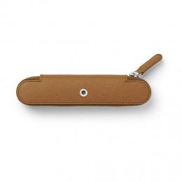 Graf von Faber-Castell Leder EPSOM Reißverschluss-Etui für 1 Schreibgerät Cognac