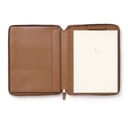 Graf von Faber-Castell Schreibmappe/Tablet-Hülle EPSOM A4 Leder genarbt Cognac