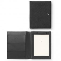 Graf von Faber-Castell Schreibmappe/Tablet-Hülle EPSOM A5 Leder genarbt Schwarz