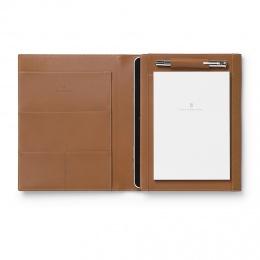 Graf von Faber-Castell Schreibmappe/Tablet-Hülle EPSOM A5 Leder genarbt Cognac