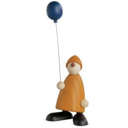 Köhler Gratulant Linus mit blauem Luftballon klein gelb
