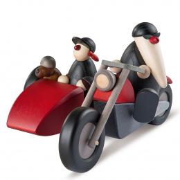 Köhler Familienausflug auf Motorrad klein