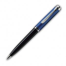 Pelikan Souverän K800 Kugelschreiber mit Drehmechanik Schwarz-Blau Silber