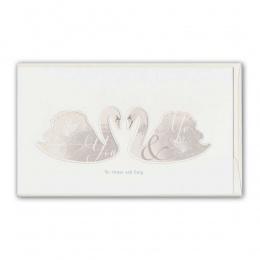 Doppelkarte Hochzeit Schwäne