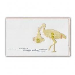 Doppelkarte Geburt Storch
