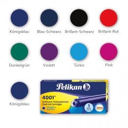 Pelikan 4001 GTP/5 Etui mit 5 Tintenpatronen Königsblau