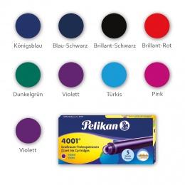 Pelikan 4001 GTP/5 Etui mit 5 Tintenpatronen Violett