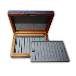 Sammler Schatulle für 22 Schreibgeräte Blau-Marmoriert