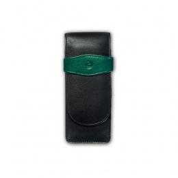 Pelikan Leder-Etui Schwarz-Grün TG32 (3 Schreibgeräte)