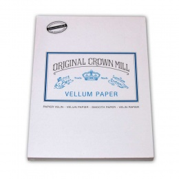 Original Crown Mill Velin weiss Briefpapier Korrespondenzblock DIN A5 (50 Blatt)