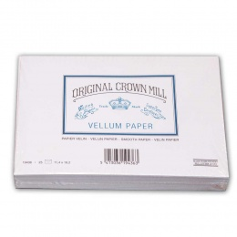 Original Crown Mill Velin weiss Briefpapier Gefütterte Briefhüllen C6 (25 St.)