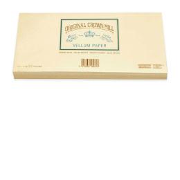 Original Crown Mill Velin creme Briefpapier Gefütterte Briefhüllen DIN lang (25 St.)