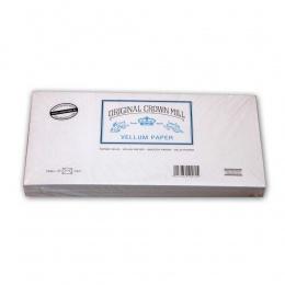 Original Crown Mill Velin weiss Briefpapier Gefütterte Briefhüllen DIN lang (25 St.)