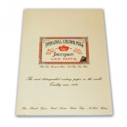 Original Crown Mill Verge creme Briefpapier Korrespondenzblock DIN A4 (50 Blatt)