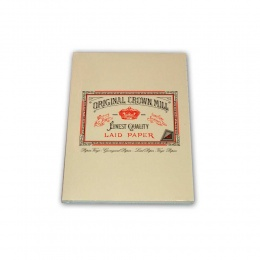 Original Crown Mill Verge creme Briefpapier Korrespondenzblock DIN A5 (50 Blatt)