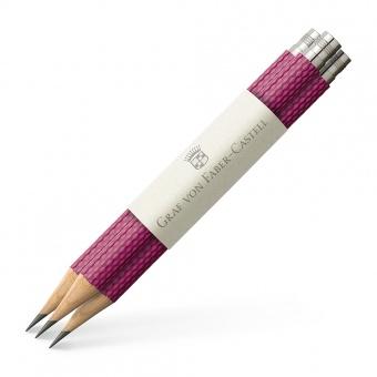 Graf von Faber-Castell Drei Taschenbleistifte Guilloche Electric Pink