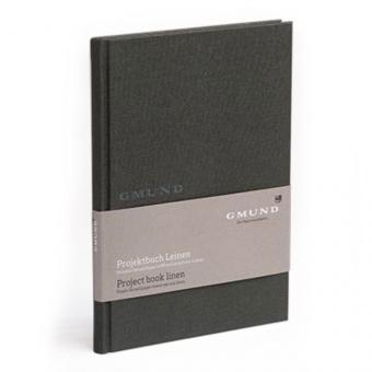 Gmund Projektbuch Leinen - Midi + graphite