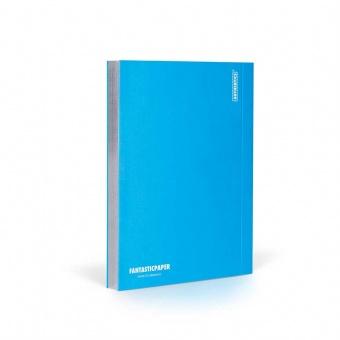Fantasticpaper Notizbuch A5 Silberschnitt blanko Blau