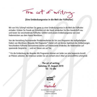 The art of writing - Eine Entdeckungsreise in die Welt der Füllhalter
