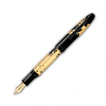 Montblanc Meisterstück Solitaire Calligraphy Gold Leaf Flex Nib Füllfederhalter
