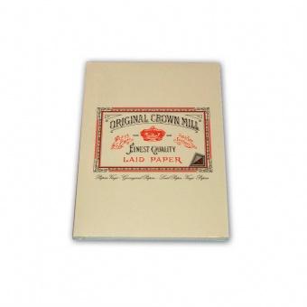 Original Crown Mill Verge creme Briefpapier Korrespondenzblock DIN A5 (50 Blatt)