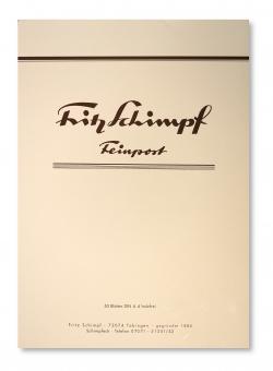 Fritz Schimpf Briefblock Feinpost DIN A4