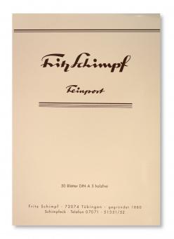 Fritz Schimpf Briefblock Feinpost DIN A5