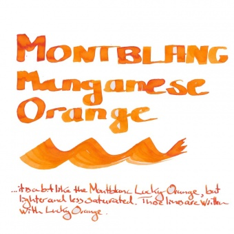 Montblanc Tintenfass Manganese Orange