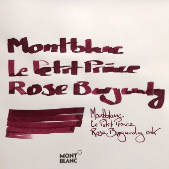 Montblanc Le Petit Prince Rose Burgundy ink