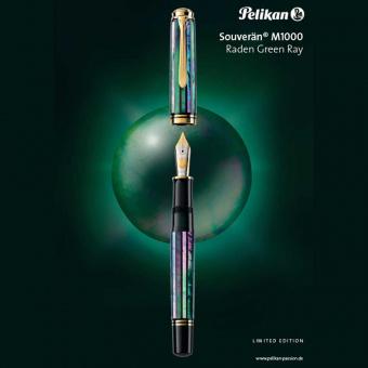 Pelikan Limited Edition Souverän M1000 Raden Green Ray Kolbenfüllhalter