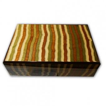 Sammler Schatulle für 22 Schreibgeräte 70s Stripes