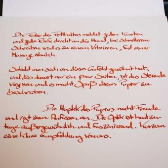 Fritz Schimpf Leinen Briefpapier