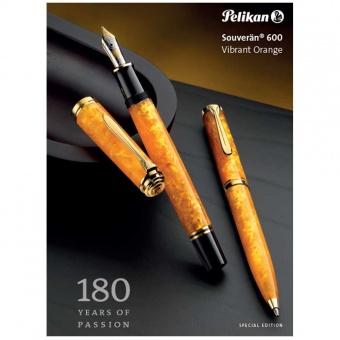 Pelikan Souverän Special Edition M600 Vibrant Orange Kolbenfüllhalter
