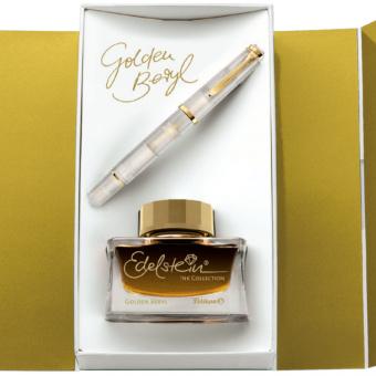 Pelikan Classic M200 Set Special Edition Golden Beryl Kolbenfüllhalter