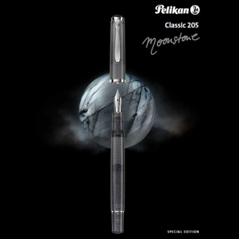 Pelikan Set Special Edition Classic M205 Moonstone Kolbenfüllhalter B - Breit