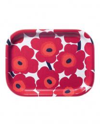 Marimekko Mini-Unikko Tablett 27 x 20 cm Rot